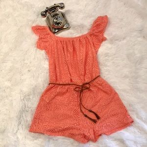 Fully Lined Lace Romper Size L